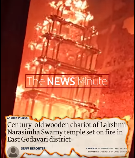 """The News Minute Article on """"Temple politics in Andhra: Battling Misinformation"""""""